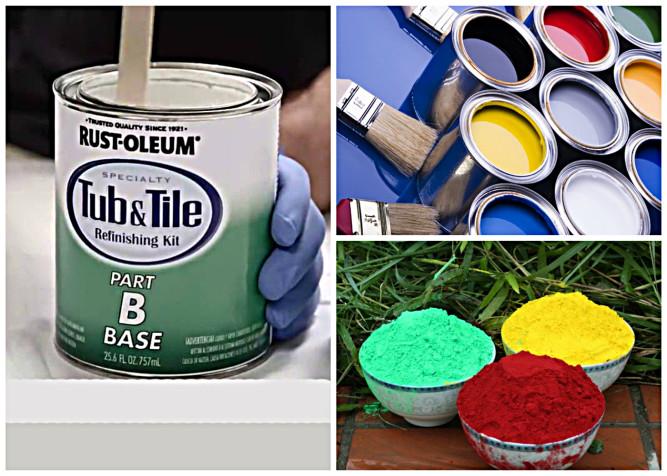 Краски для кафельной плитки