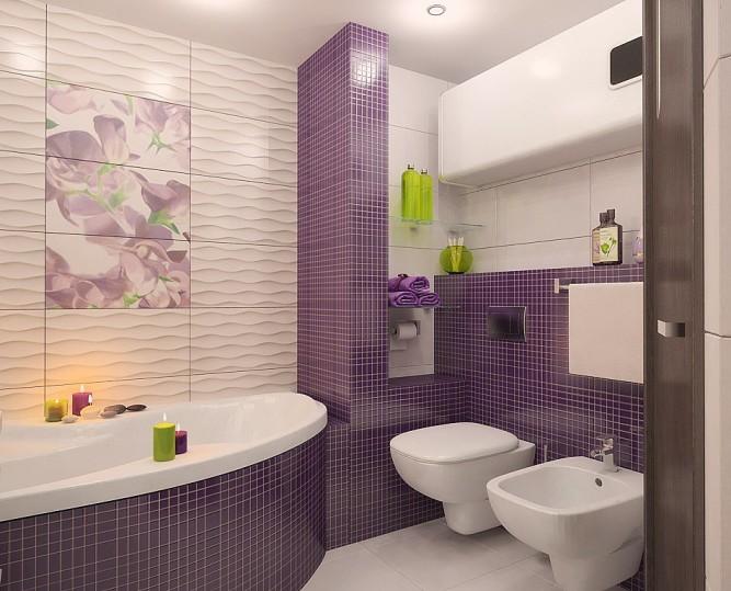 Использование модульных рисунков в ванной