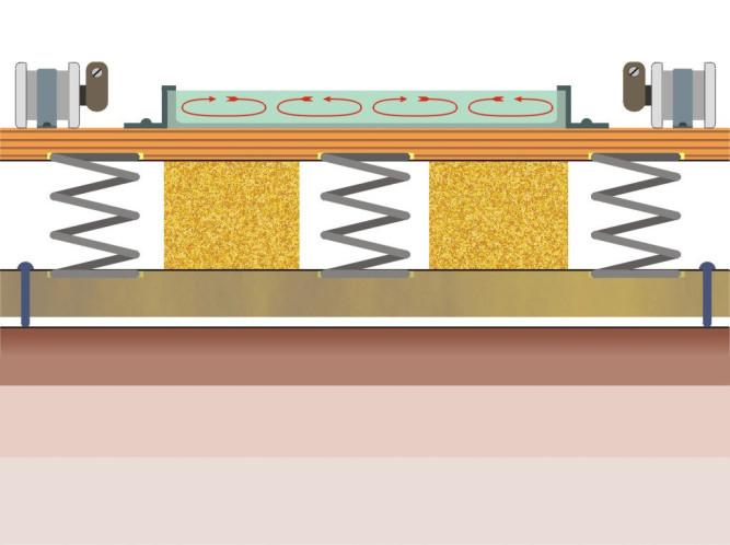 Схематическое изображение вибростола для изготовления плитки