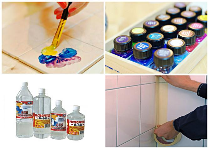 Материалы для покраски плитки