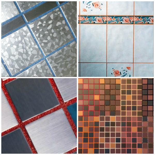 Разновидности цветной затирки для плитки