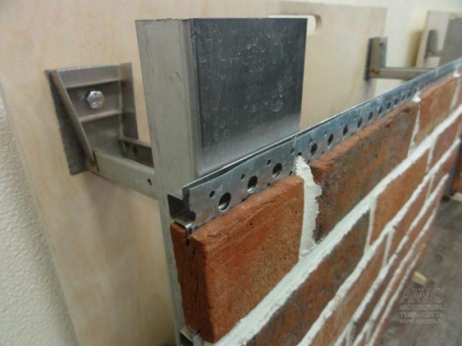 Скрытое крепление клинкерной плитки