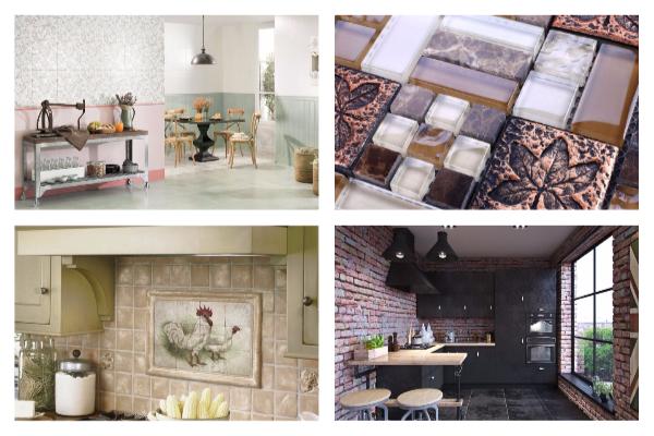 дизайн кафельной плитки на кухне