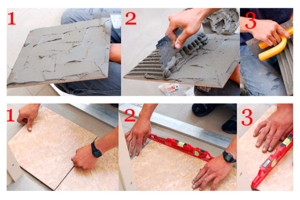 Как класть плитку на кухне на пол