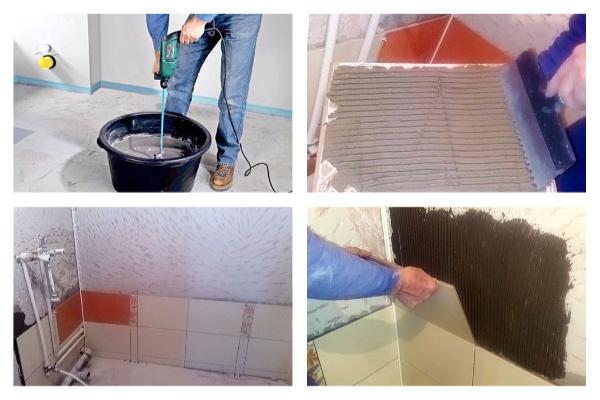 Как облицевать стены в ванной комнате плиткой