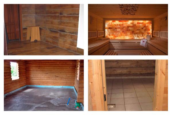 Как сделать пол в бане из плитки