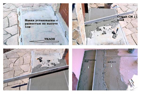 Облицовка крыльца и ступеней керамогранитной плиткой