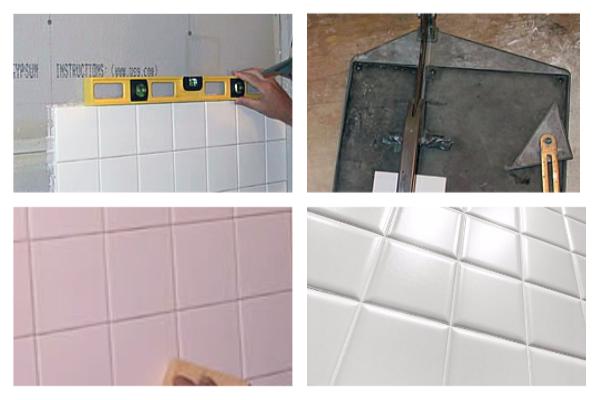 Как клеить плитку в ванной правильно
