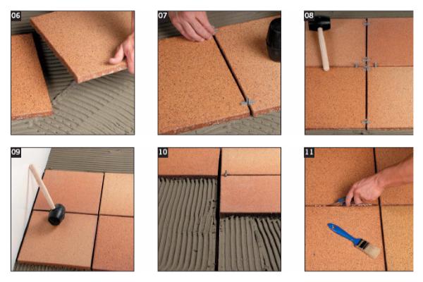 2 способа укладки клинкерной напольной плитки в доме и на улице