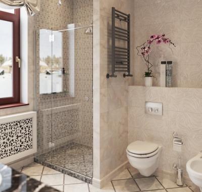 дизайн ванной комнаты с окном фото