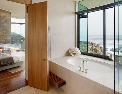 Витражное остекление в ванной