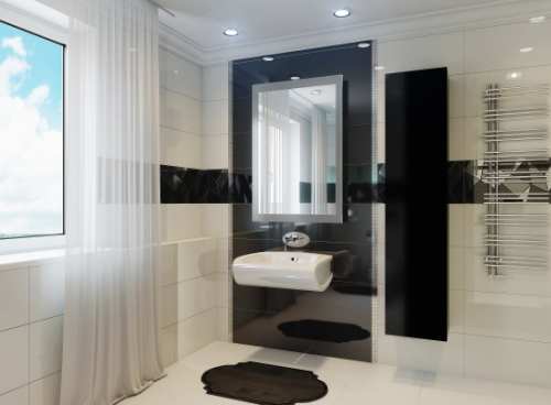 Стиль хай тек в ванной