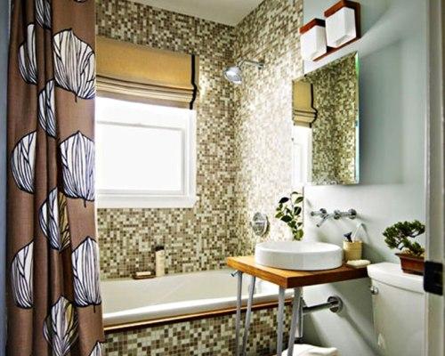 Рулонные шторы как элемент декора