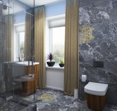 ванная с окном дизайн фото