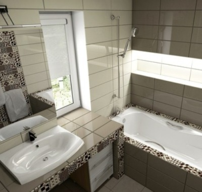 дизайн ванной с окном фото