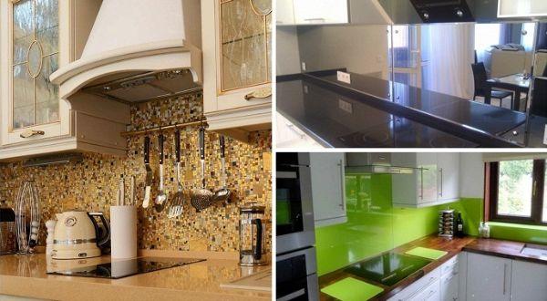 Фартук на кухне должен сочетаться со столешницей, фасадами и обладать термостойкостью