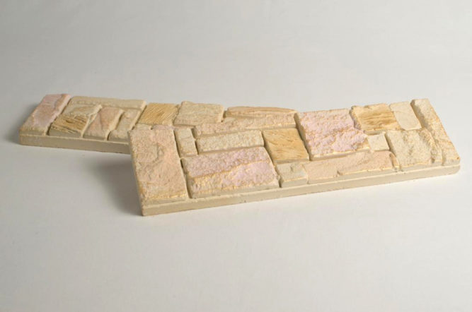 Гипсовой плитки под камень