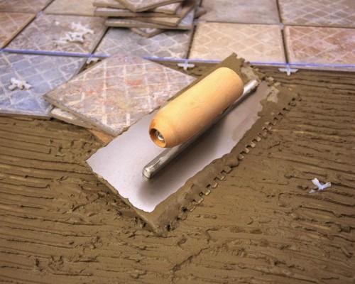 подготовка плитки к укладке