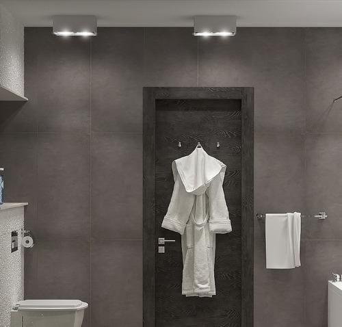 Хай тек ванная в черно-белом исполнении