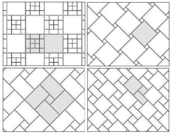 Перед началом поклейкой плитки на пол делают схему укладки