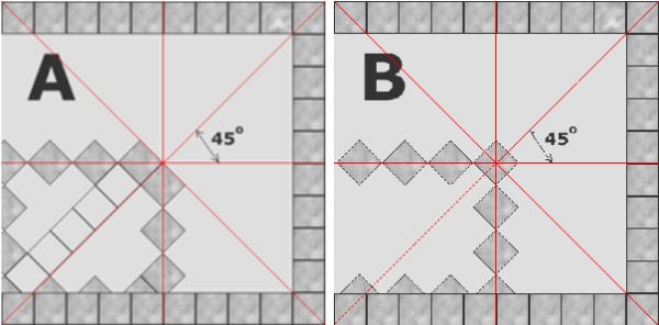 Расчет плитки по количеству рядов