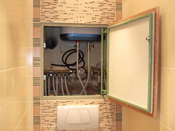 спрятанные трубы в ванной ГКЛВ