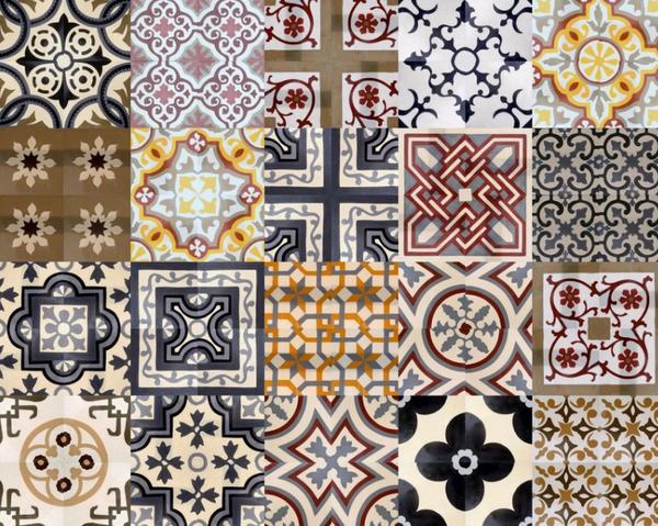 Цвет, рисунок орнамент плитки