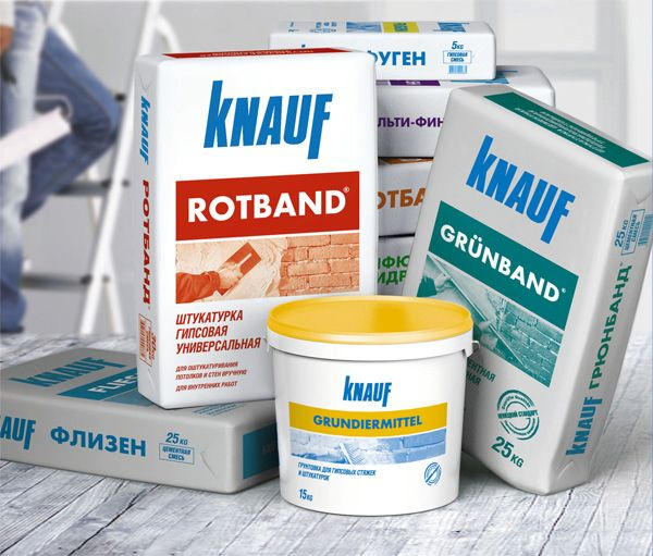 Гипсовые штукатурные смеси Knauf