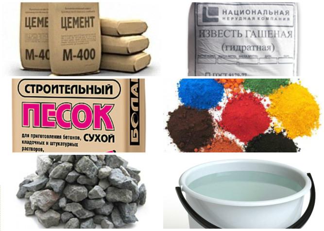 Материалы для изготовления тротуарной плитки