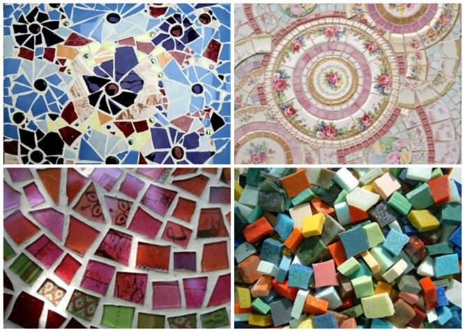 Самодельная мозаика из подручных материалов