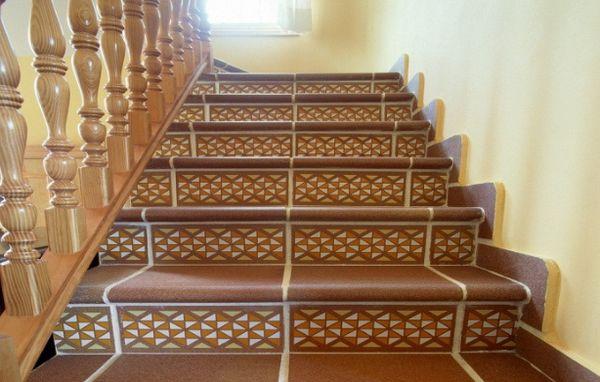 облицованная лестница