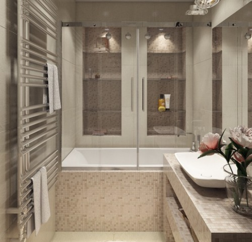 Оформляем маленькую ванную в стиле модерн