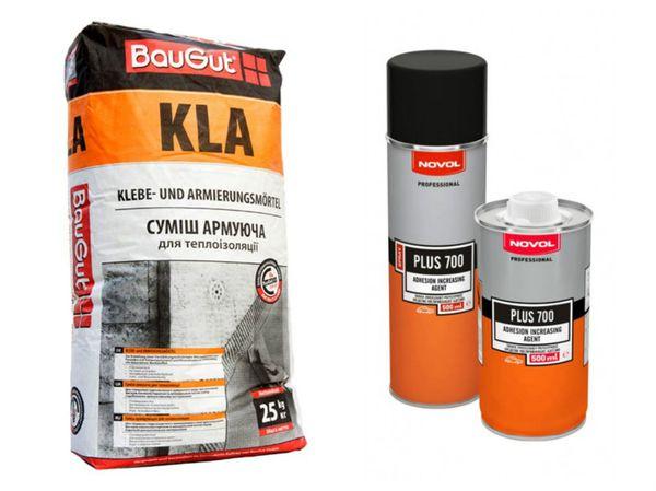 Армирующей смеси, например Baugut и Novol Plus 700