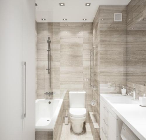 Отличное решение для дизайна небольшой ванной