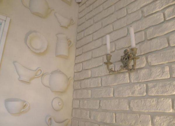 стены облицованные гипсовой плиткой