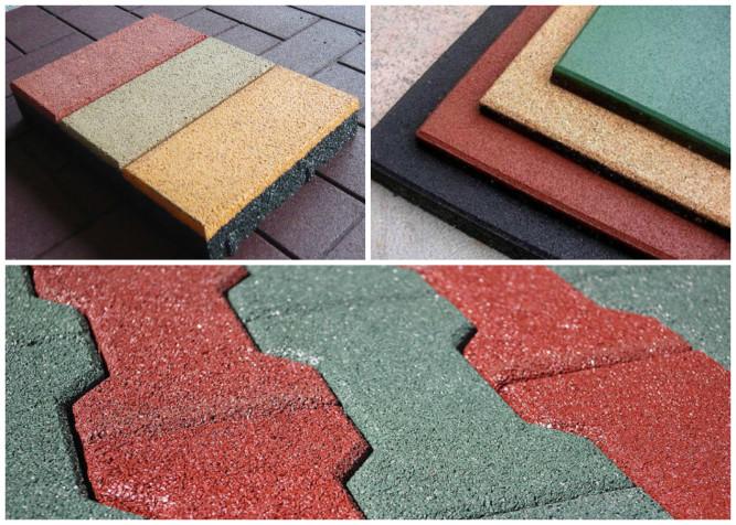 Разновидности плитки из резиновой крошки