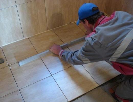 технология укладки напольнои плитки