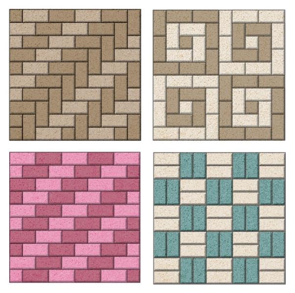 Простые схемы укладки прямоугольной тротуарной плитки