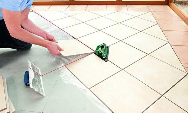Диагональный способ раскладки керамической плитки