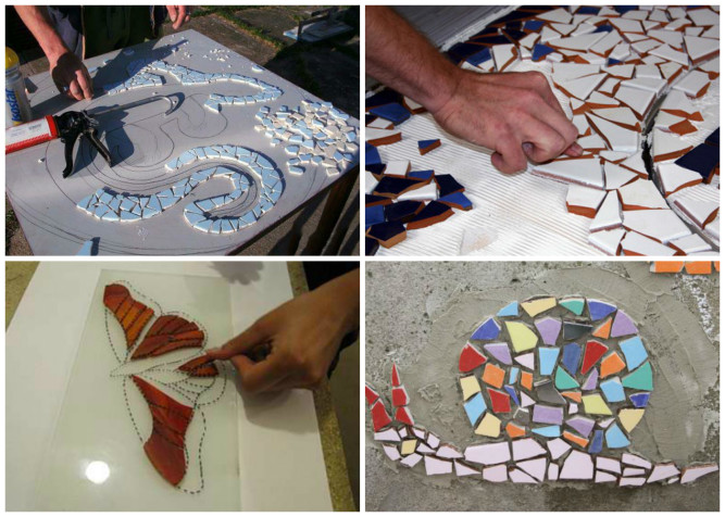 Выбор схемы раскладки мозаики