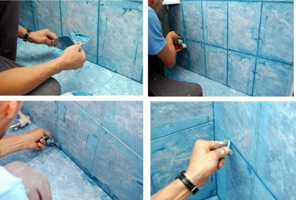 Существует два типа смесей для затирки плитки – на основе цемента, и на основе (разных) смол