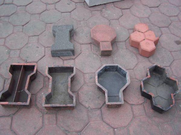 Формы для отливки тротуарной плитки