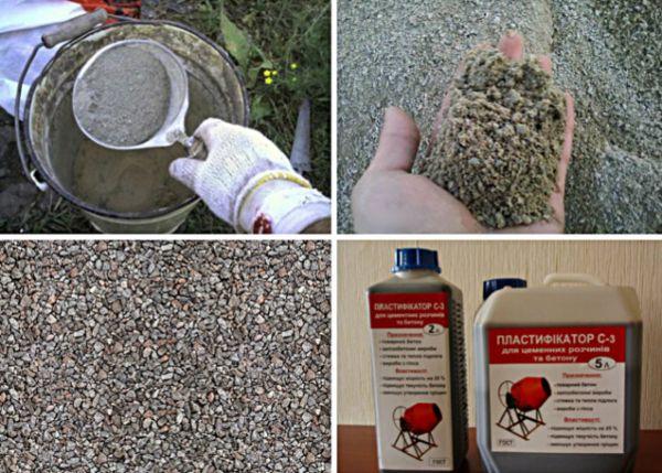 Компоненты для изготовления тротуарной плитки
