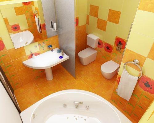Яркий интерьер в оранжевых и желтых тонах
