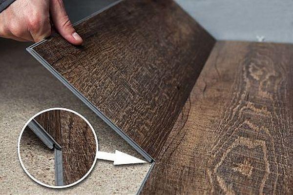 Монтаж виниловой плитки на деревянный пол