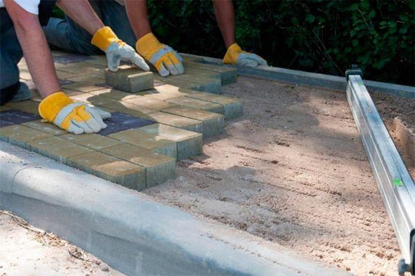 Разметка - один из основных этапов укладки тротуарной плитки