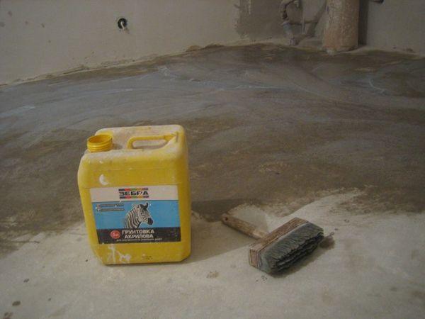 подготовка основания перед укладкой плитки