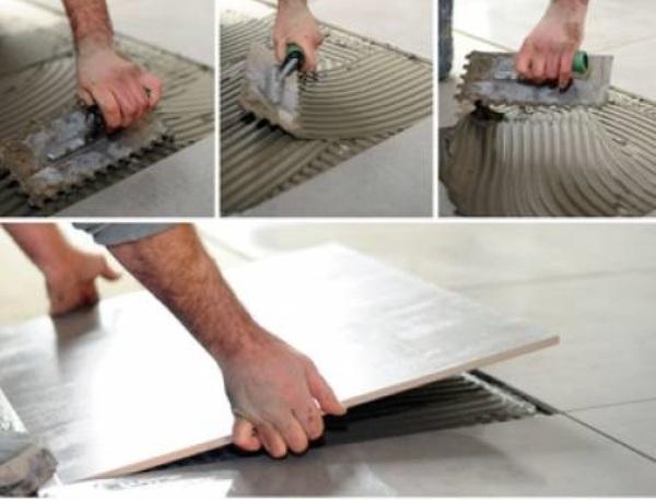 Подробно о процессе укладки плитки