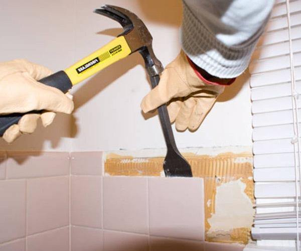 укладка плитки на стену в ванной