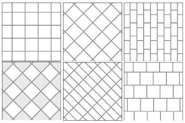 Варианты укладки плитки могут быть самыми разнообразными